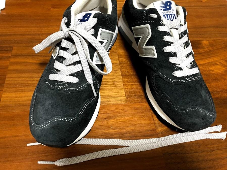ニューバランスの靴紐の結び目は隠した方がかっこいい!?結び目